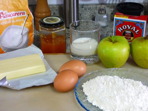 Ingredientes bizcocho de manzana