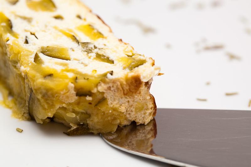 Pastel de queso y calabacín
